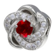 Forever Moments™ Red Cubic Zirconia Love Knot Bead
