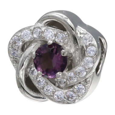jcpenney.com | Forever Moments™ Dark Purple Cubic Zirconia Love Knot Bead