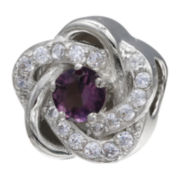 Forever Moments™ Dark Purple Cubic Zirconia Love Knot Bead