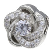 Forever Moments™ Cubic Zirconia Love Knot Bead