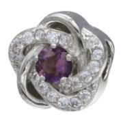 Forever Moments™ Light Purple Cubic Zirconia Love Knot Bead