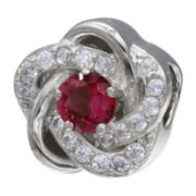 Forever Moments™ Fuchsia Cubic Zirconia Love Knot Bead
