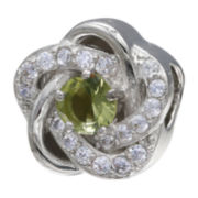 Forever Moments™ Light Green Cubic Zirconia Love Knot Bead