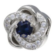 Forever Moments™ Dark Blue Cubic Zirconia Love Knot Bead