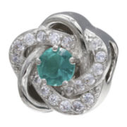 Forever Moments™ Teal Cubic Zirconia Love Knot Bead