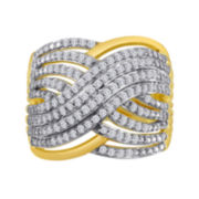 1/2 CT. T.W. Diamond Crisscross Ring