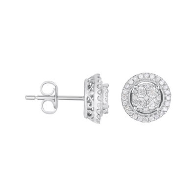 TruMiracle® 1/4 CT. T.W. Diamond Round Sterling Silver Earrings