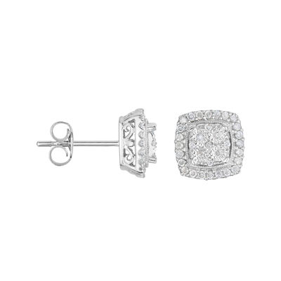 TruMiracle® 1/4 CT. T.W. Diamond Square Sterling Silver Earrings