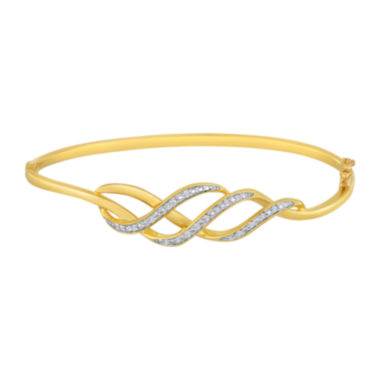 jcpenney.com | 1/10 CT. T.W. Diamond Swirl Bangle Bracelet