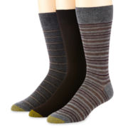 Gold Toe® 3-pk. Dress Stripe Crew Socks