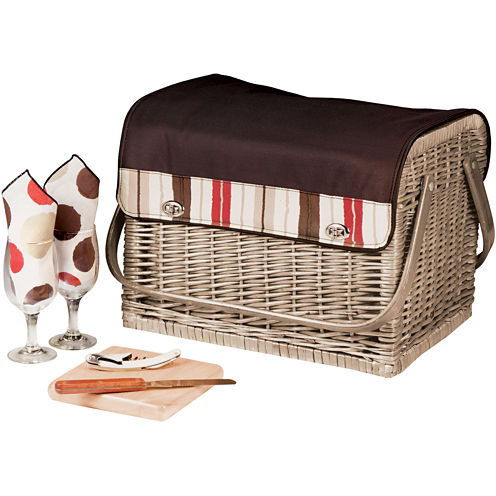 Picnic Time® Kabrio-Moka Wine Basket – Service for 2