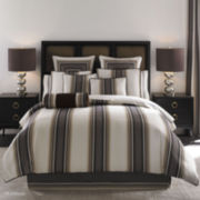 Queen Street® Platinum 4-pc. Striped Comforter Set & Accessories