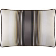 Platinum Striped Oblong Decorative Pillow