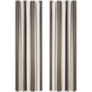 Queen Street® Platinum Striped Curtain Panel Pair