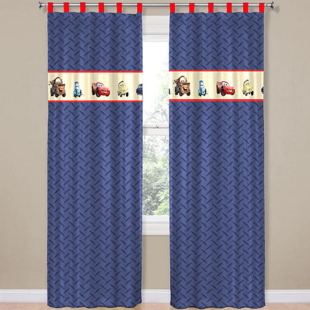 Disney Cars Line-Up Tab-Top Curtain Panel