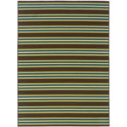 Bars Striped Indoor/Outdoor Rectangular Rug