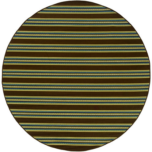 Covington Home Bars Striped Indoor/Outdoor Round Rug