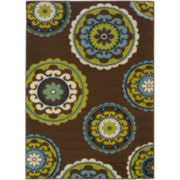 Suzani Floral Indoor/Outdoor Rectangular Rug