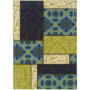 Boxes Indoor/Outdoor Rectangular Rug