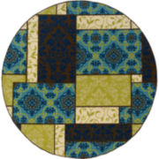 Boxes Indoor/Outdoor Round Rug