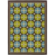 Disc Indoor/Outdoor Rectangular Rug