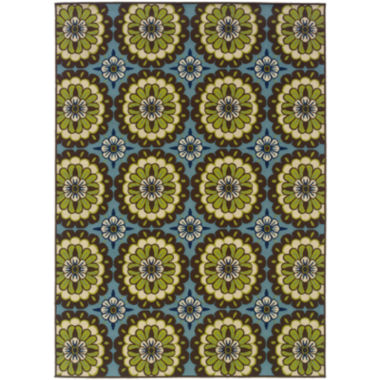 jcpenney.com | Floral Medallion Blue Indoor/Outdoor Rectangular Rug