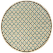Leaf Lattice Indoor/Outdoor Round Rug