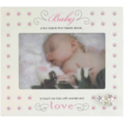 "Baby Polka Dot 4x6"" Picture Frame"