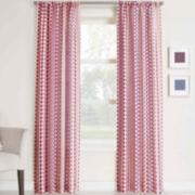 Silas Striped Ikat Rod-Pocket Curtain Panel