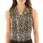 Worthington® Sleeveless Mesh Top - Tall