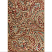 Nourison® Paisley Charm Hand-Carved Rectangular Rug