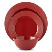 JCPenney Home™ Set of 4 Melamine Rim Dinner Plates