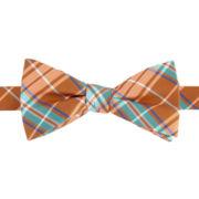 Stafford® Nutmeg Plaid Pre-Tied Bow Tie