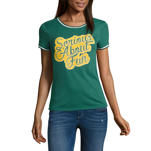 "Arizona ""Serious About Fun"" Graphic T-Shirt- Juniors"
