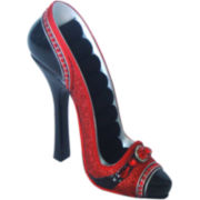Red High-Heel Shoe Ring Holder