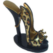 Leopard-Print Shoe Eyeglass Holder