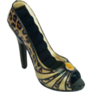 Leopard-Print Shoe Ring Holder