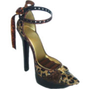 Leopard-Print Shoe Earring & Ring Holder