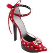 Red Polka Dot Shoe Earring & Ring Holder