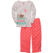 Carter's® 2-pc. Mouse & Teacup Pajamas - Girls 2t-5t
