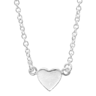 jcpenney.com | itsy bitsy™ Sterling Silver Heart Pendant Necklace