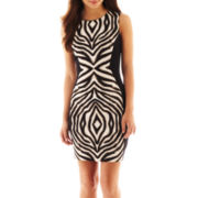 Bisou Bisou® Sleeveless Print Colorblock Dress