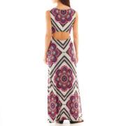 Bisou Bisou® Sleeveless Open-Back Maxi Dress
