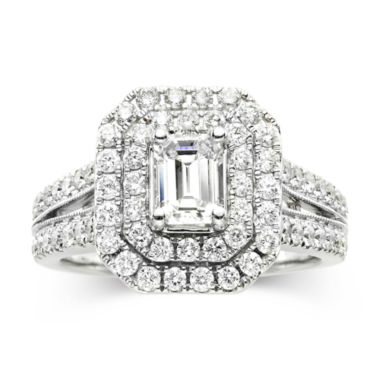 jcpenney.com | Modern Bride® Signature 1¾ CT. T.W. Certified White & Color-Enhanced Blue Diamond Ring