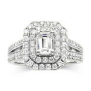 Modern Bride® Signature 1¾ CT. T.W. White & Color-Enhanced Blue Diamond Ring