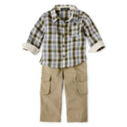 Wendy Bellissimo™ 2-pc. Plaid Woven Pant Set - Boys 6m-24m