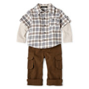 Wendy Bellissimo™ 2-pc. Layered-Look Woven Pant Set - Boys 6m-24m