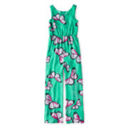 Rare Editions Sleeveless Chiffon Jumpsuit - Girls 7-16
