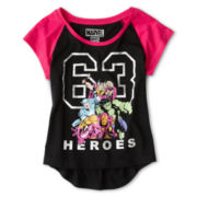Marvel Raglan Tee- Girls 7-16