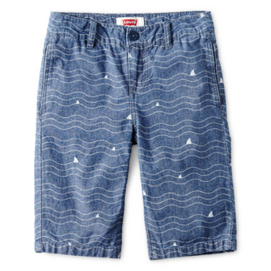 jcpenney.com | Levi's® Chambray Wave Beachcomber Shorts - Boys 8-20